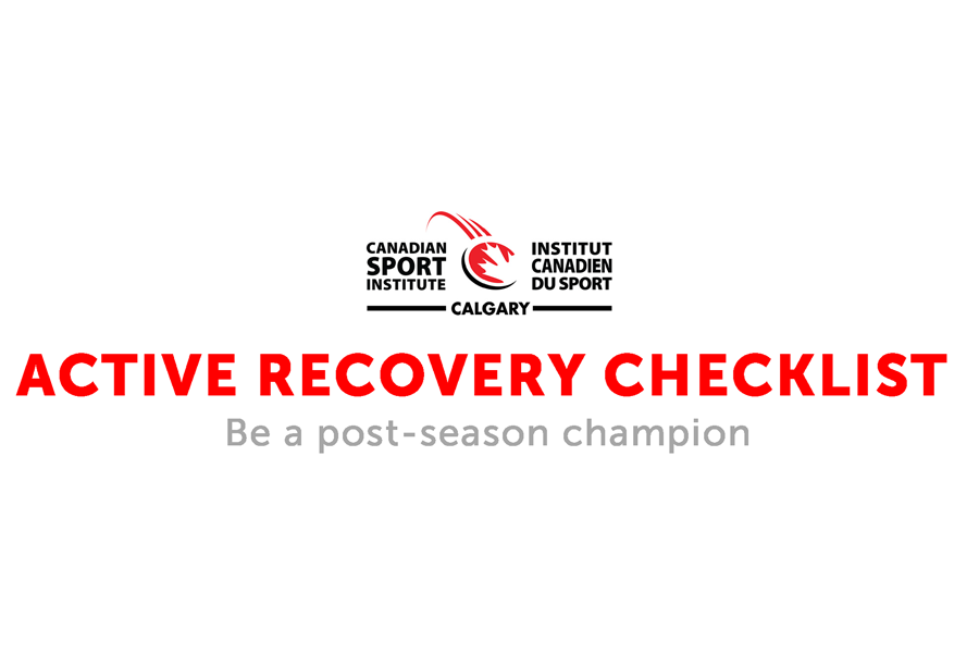 Strength and Conditioning Active Recovery Checklist